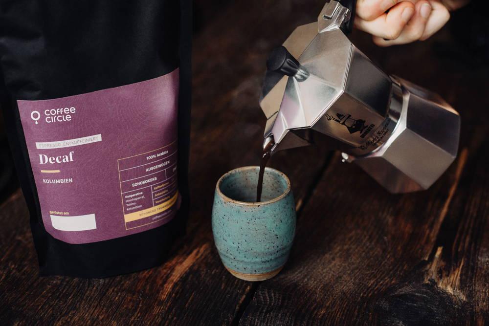 Decaf Espresso mit Bialetti Decaf Espresso mit Bialetti Espressokocher