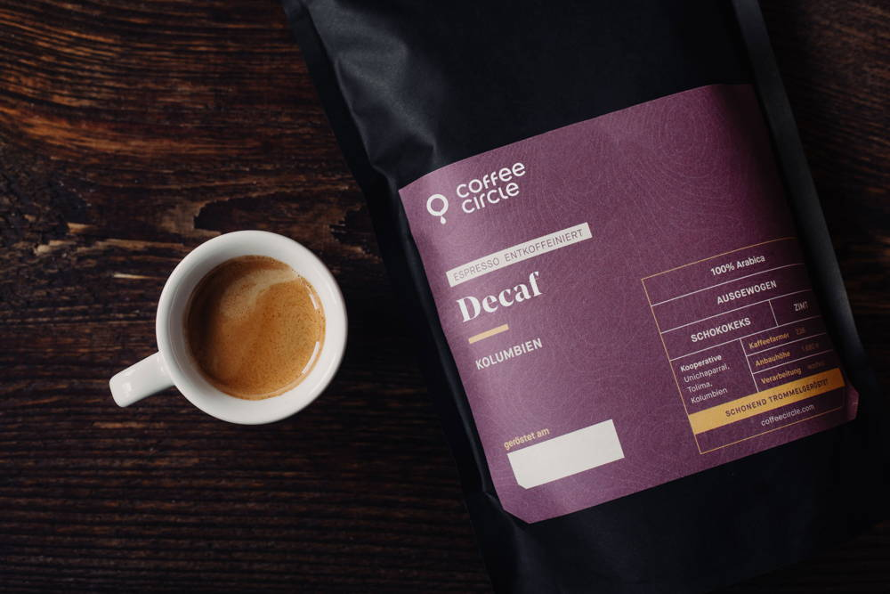 Decaf Espresso mit Espressotasse