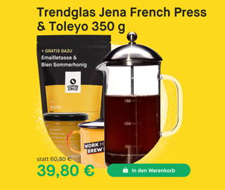 Trendglas French Press & Toleyo Kaffee