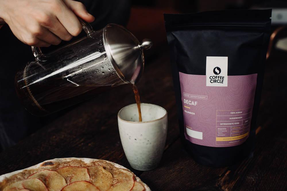 Decaf Kaffee aus der French Press