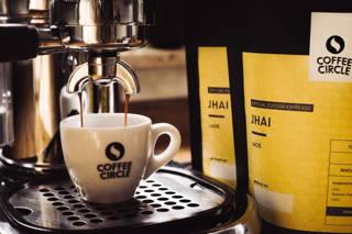 Jhai in der Espressomaschine