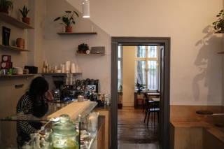 Innenansicht des Cafés