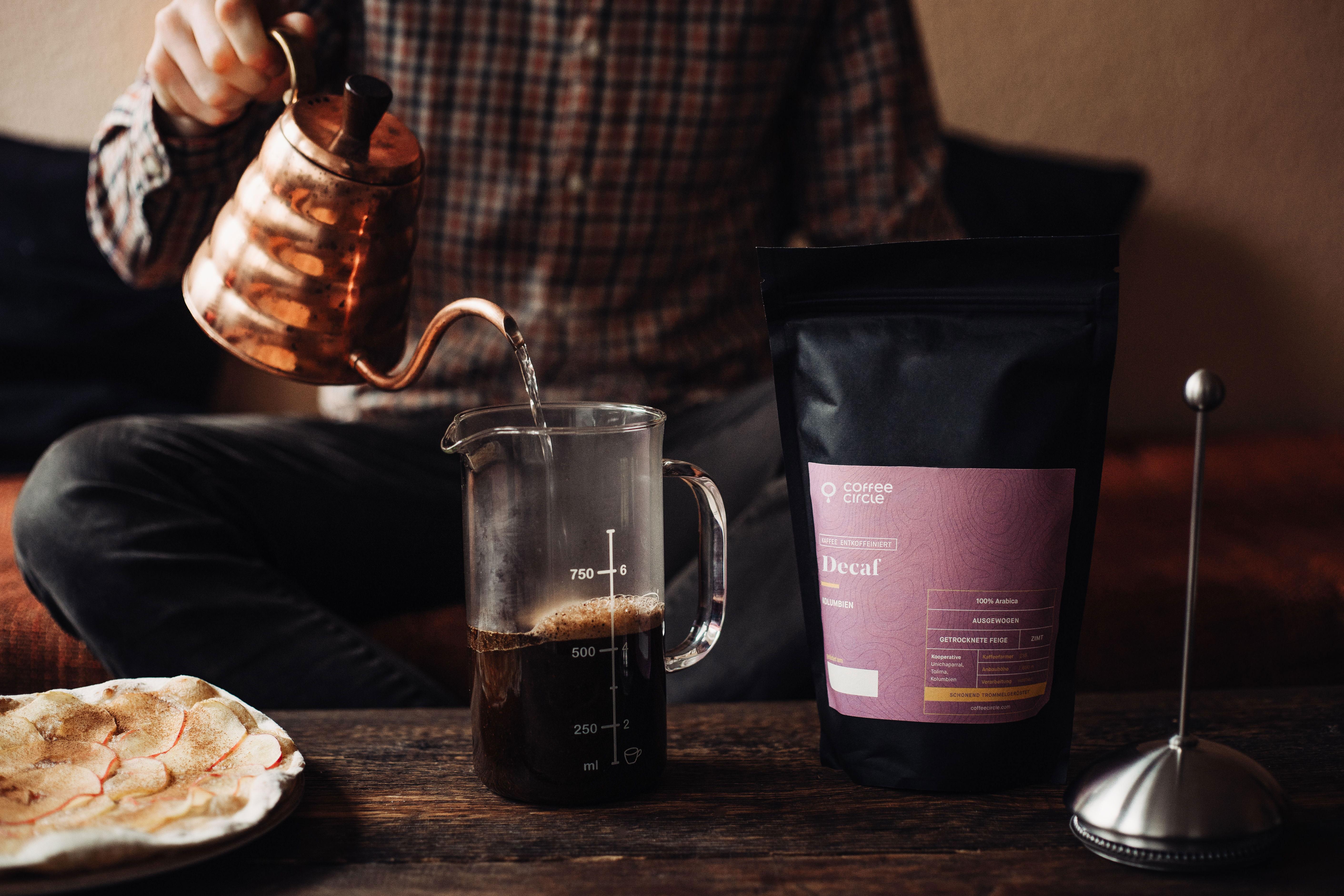 Decaf Filterkaffe mit French Press und Hario buono