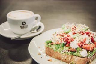 Guter Kaffee und leckeres Essen