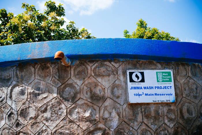 Das Wasserreservoir versorgt 5 Wasserkioske in 5 Dörfern