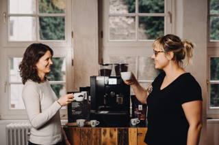 Kaffeepause wird zelebriert