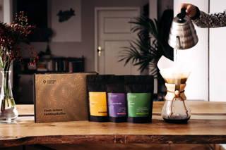 Probierpaket Filterkaffee mit Toleyo, Yirgacheffe und Limu und die Chemex