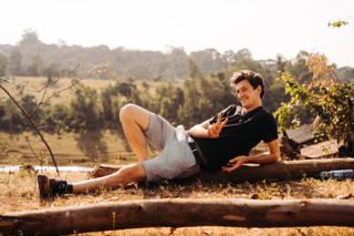 Martin relaxed am Set