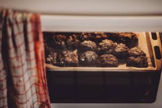 Kaffee Gewürz Cookies im Backofen
