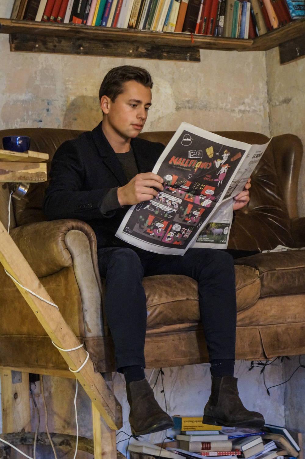 Tageszeitung in der Luft