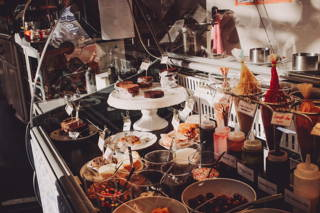 Die Zutatenauswahl im Café Kastanientörtchen