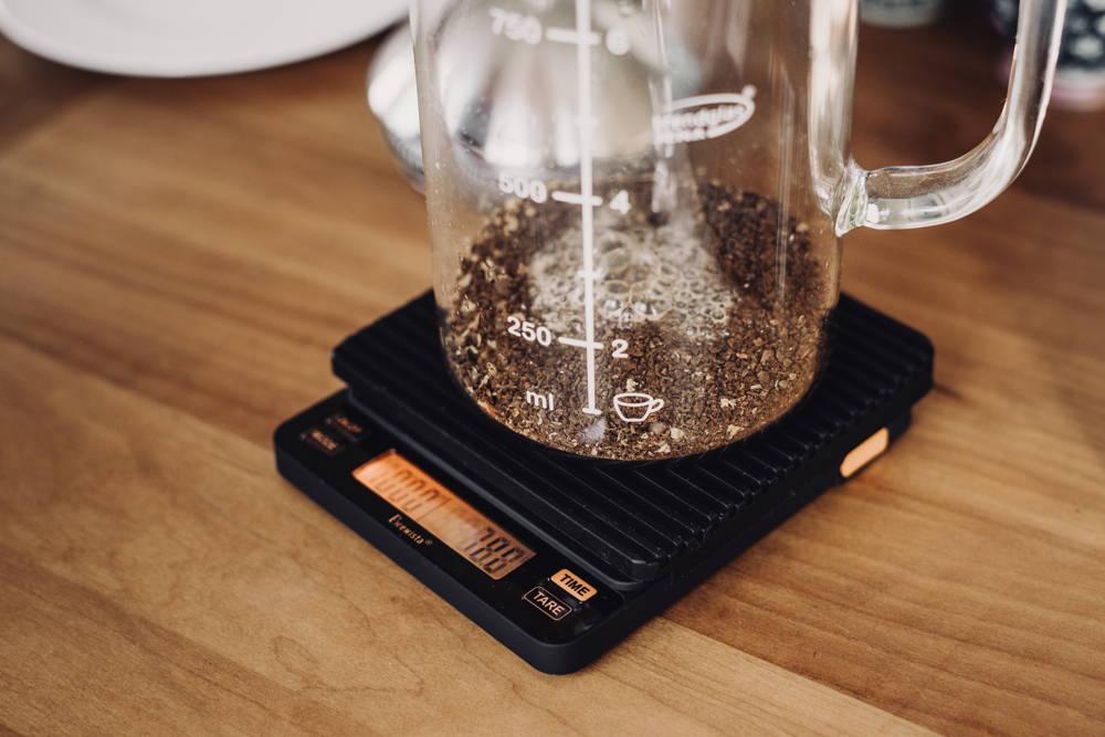 Mit der Kaffeefeinwaage am besten