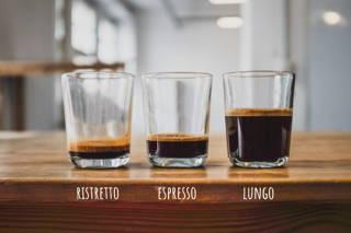 Ristretto, Espresso und Lungo im Vergleich