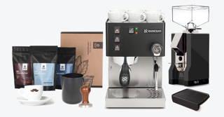 Espressomaschinen Komplettpaket Schwarz