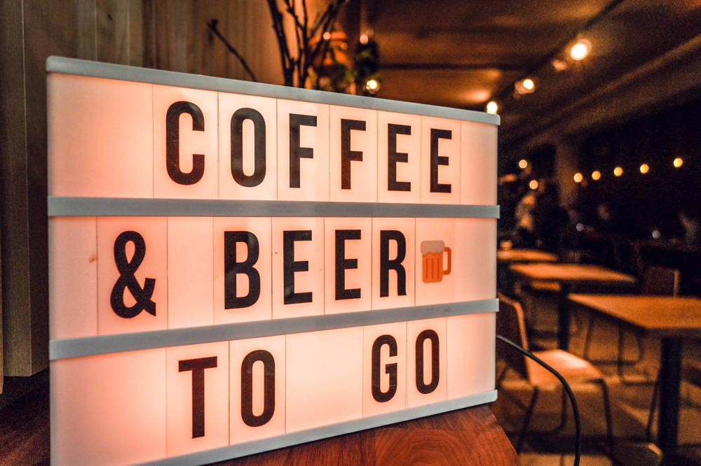 Coffee & Beer Schild