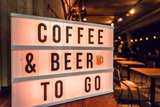 Coffee & Beer Schild