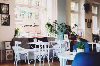 Das Hom Café von innen
