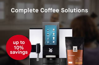 Fully automatic coffee machine with a bag of coffee circle coffee