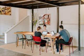Arbeiten im Coffee Circle Cafe