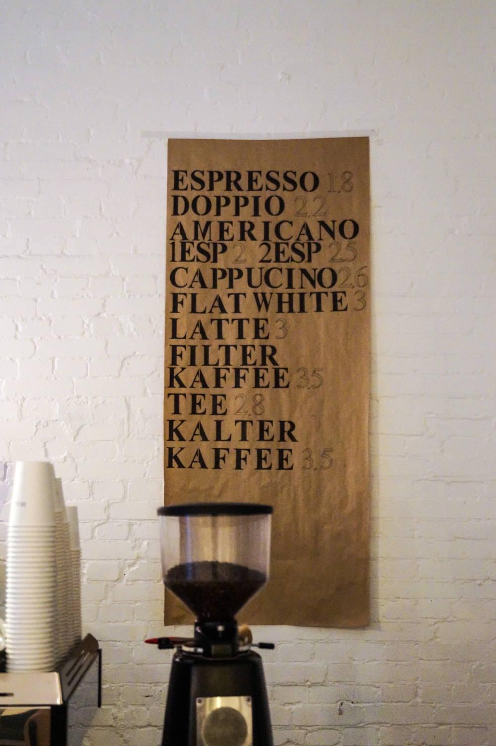 Kaffee Menü