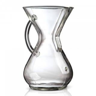 Chemex Kaffeekaraffe mit Glasgriff