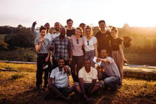 Gruppenfoto des Teams in Äthiopien