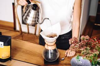 Kaffeezubereitung in der Chemex