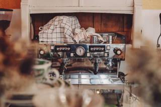 Das ist die Kaffeemaschine des Kastanientörtchens