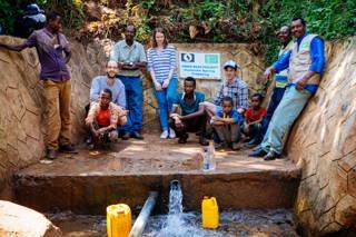 Die Homecha Quelle ist erschlossen und versorgt bereits 5 Wasserkioske