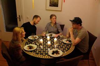 Abendessen unter Kollegen