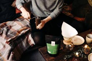 Kaffeemühle an Weihnachten