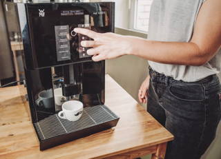 Kaffeezubereitung im Vollautomaten
