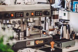 Die Espressomaschine im Hom Café