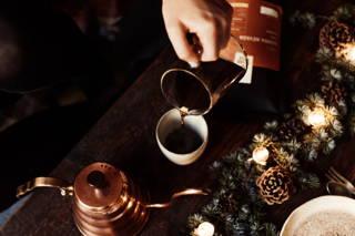 Lichterglanz der Kaffeekanne