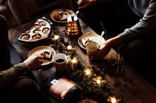 Leckerer Apfelkuchen zu Weihnachten