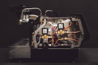 Die Innenansicht einer Espressomaschine