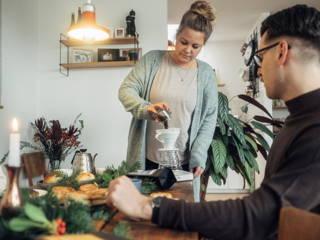 Kaffeekranz an Weihnachten