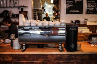 Die Espressomaschine des Hauses