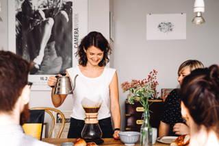 Kaffee mit Freunden und der Chemex und dem Toleyo