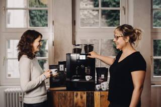 Kaffeepause gehört zum Standard