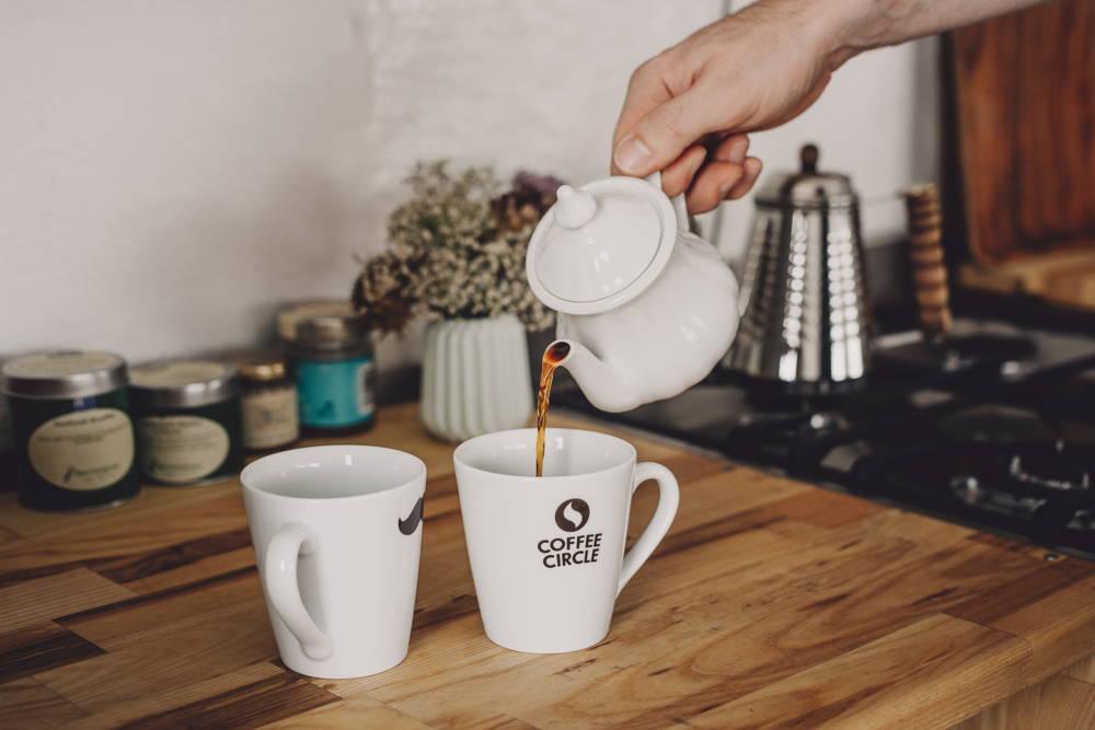 Keramik-Filteraufsatz entfernen. Fertig ist dein Kaffee!