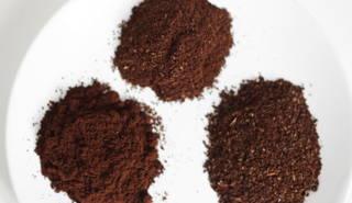 Unterschiedliche Kaffeemahlgrade für Espresso, Filterkaffee und Frech Press