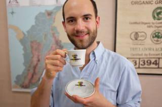Hannes und Café de Colombia