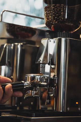 Nahaufnahme einer ECM Espressomühle